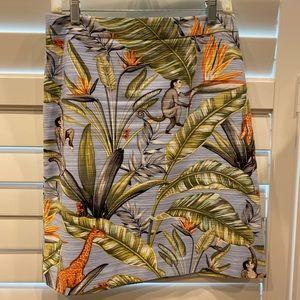 Ann Taylor Tropical Linen Skirt